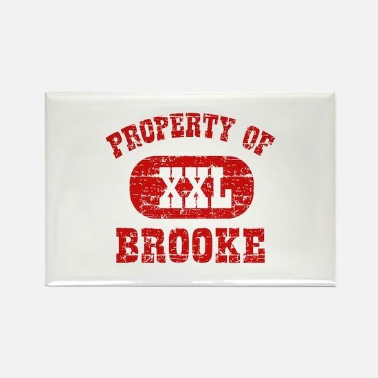 Property Of Brooke Rectangle Magnet