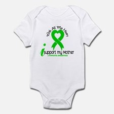 With All My Heart Lymphoma Infant Bodysuit