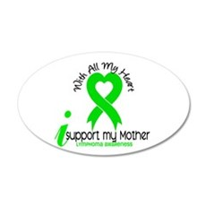 With All My Heart Lymphoma Wall Decal