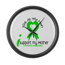 With All My Heart Lymphoma Large Wall Clock