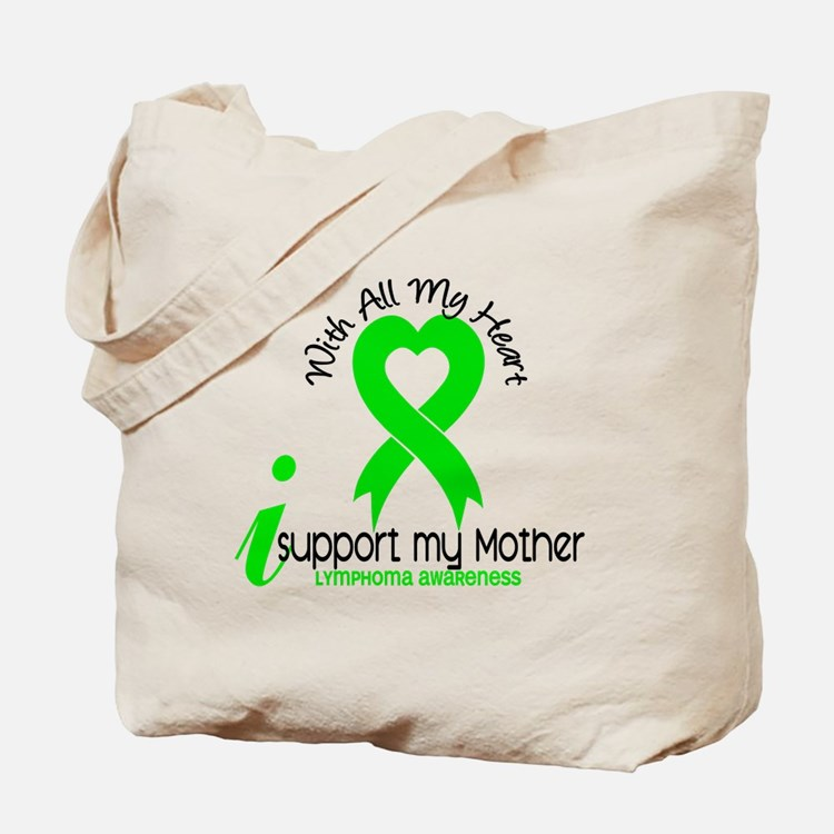 With All My Heart Lymphoma Tote Bag
