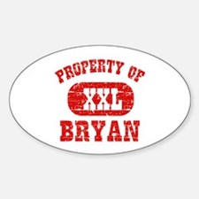 Property Of Bryan Decal