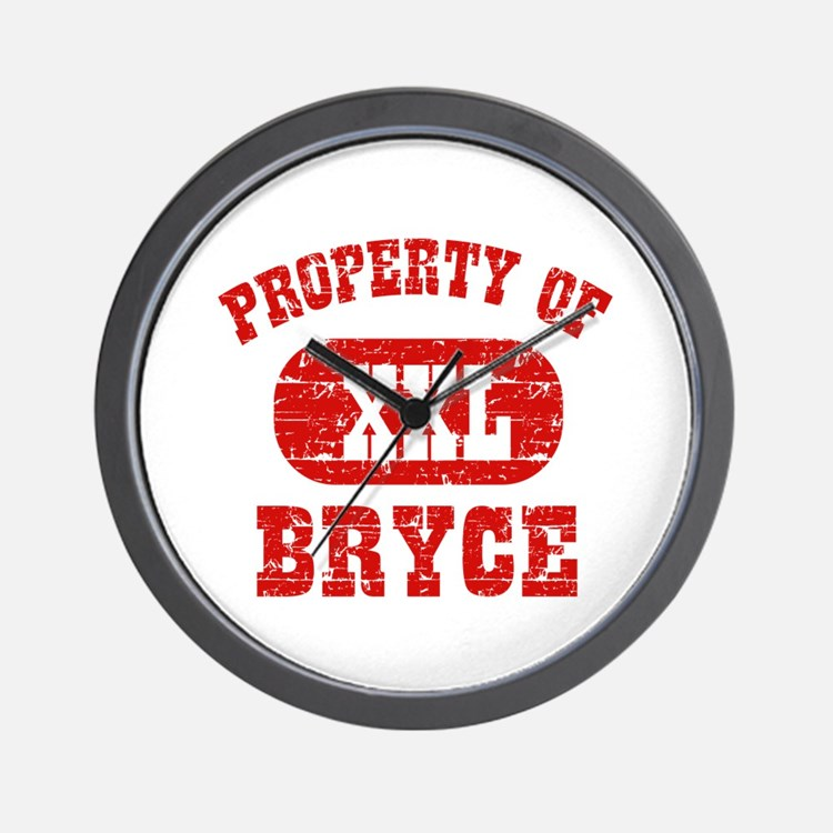 Property Of Bryce Wall Clock