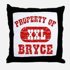 Property Of Bryce Throw Pillow