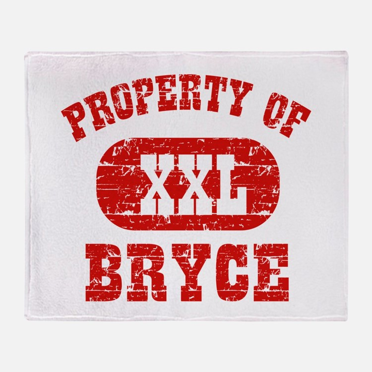 Property Of Bryce Throw Blanket