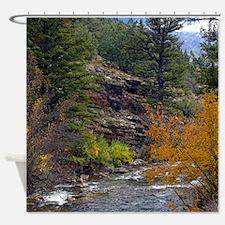 Logan Canyon river Shower Curtain