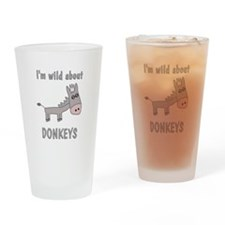 Wild About Donkeys Drinking Glass
