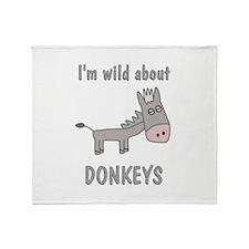 Wild About Donkeys Throw Blanket