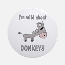 Wild About Donkeys Ornament (Round)