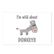 Wild About Donkeys Postcards (Package of 8)