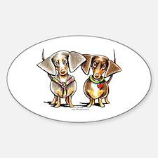 Dashing Dapples Sticker (Oval)