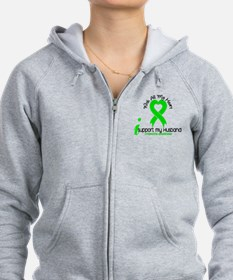 With All My Heart Lymphoma Zip Hoodie