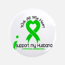 "With All My Heart Lymphoma 3.5"" Button (100 pack)"