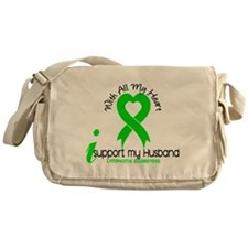 With All My Heart Lymphoma Messenger Bag