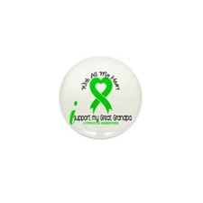 With All My Heart Lymphoma Mini Button (100 pack)