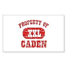Property Of Caden Decal