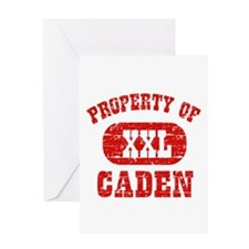 Property Of Caden Greeting Card