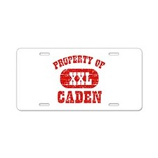 Property Of Caden Aluminum License Plate