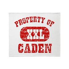 Property Of Caden Throw Blanket