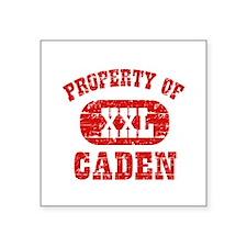 "Property Of Caden Square Sticker 3"" x 3"""