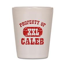 Property Of Caleb Shot Glass