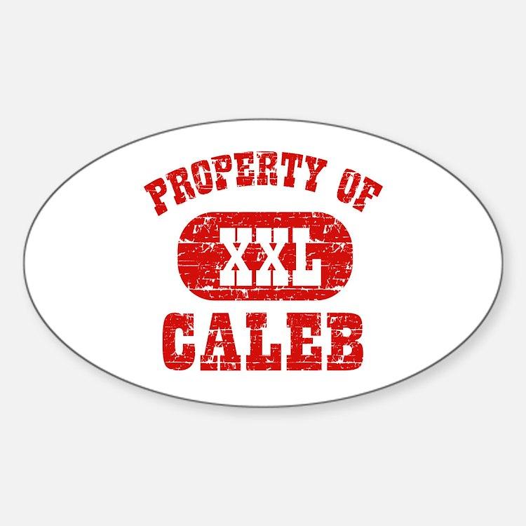 Property Of Caleb Decal