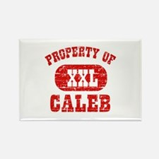 Property Of Caleb Rectangle Magnet