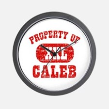 Property Of Caleb Wall Clock