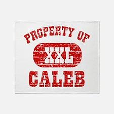 Property Of Caleb Throw Blanket
