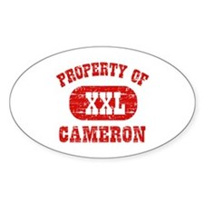 Property Of Cameron Decal