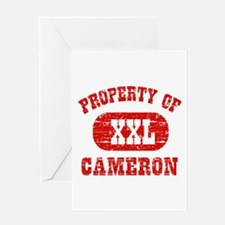 Property Of Cameron Greeting Card