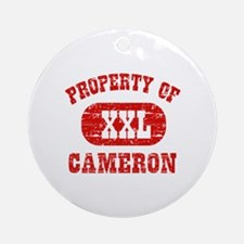 Property Of Cameron Ornament (Round)