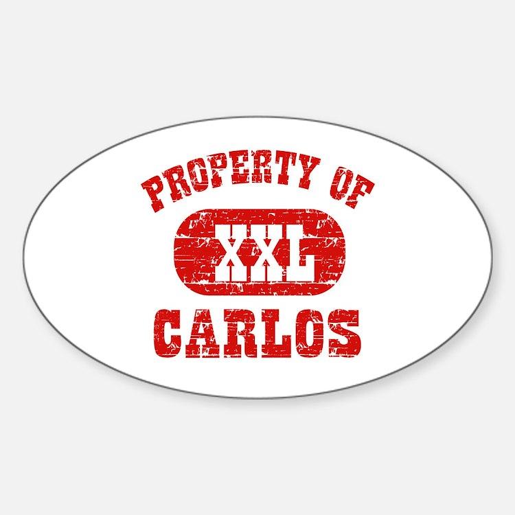Property Of Carlos Sticker (Oval)