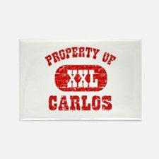 Property Of Carlos Rectangle Magnet