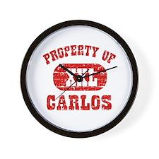 Property Of Carlos Wall Clock