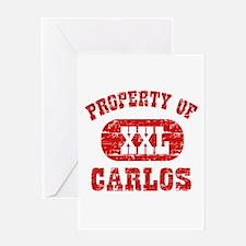 Property Of Carlos Greeting Card