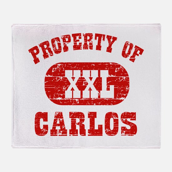 Property Of Carlos Throw Blanket