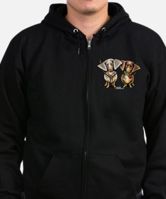 Dashing Dapples Zip Hoodie