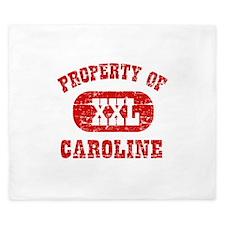 Property Of Caroline King Duvet