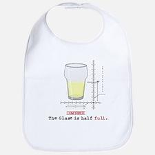 Glass is half full Bib