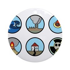 Disaster Ornament (Round)
