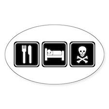 EAT SLEEP PIRATE Oval Decal