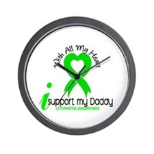 With All My Heart Lymphoma Wall Clock