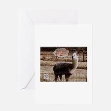 Red Ryder Drama Llama Greeting Card