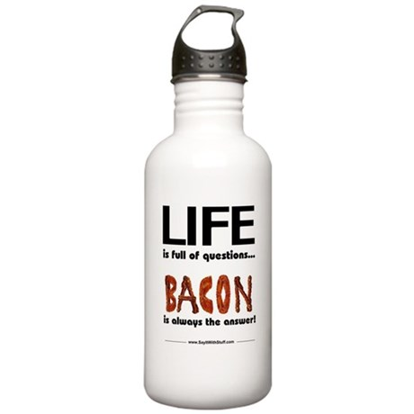 Bacon Is The Answer Stainless Water Bottle 1.0L