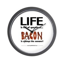 Bacon Is The Answer Wall Clock