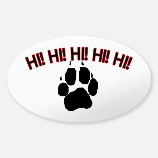Hi! Dog Sticker (Oval)