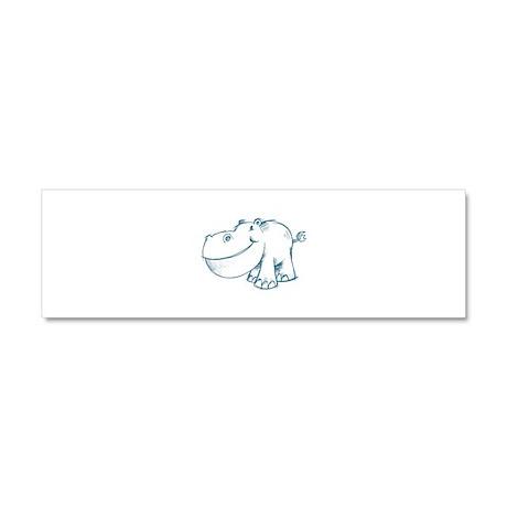 Hippo Car Magnet 10 x 3