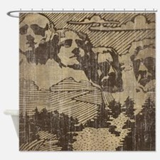 Vintage Mount Rushmore Shower Curtain