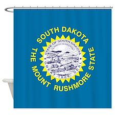 South Dakota Flag Shower Curtain